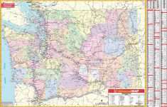 Washington State Wall Map – Kappa Map Group – Giant Texas Wall Map