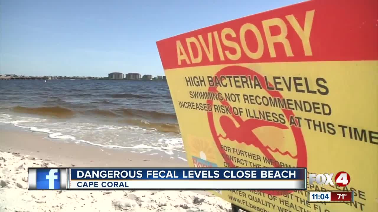 Water At Yacht Club Beach In Cape Coral Closed To Swimmers - Florida Beach Bacteria Map 2018
