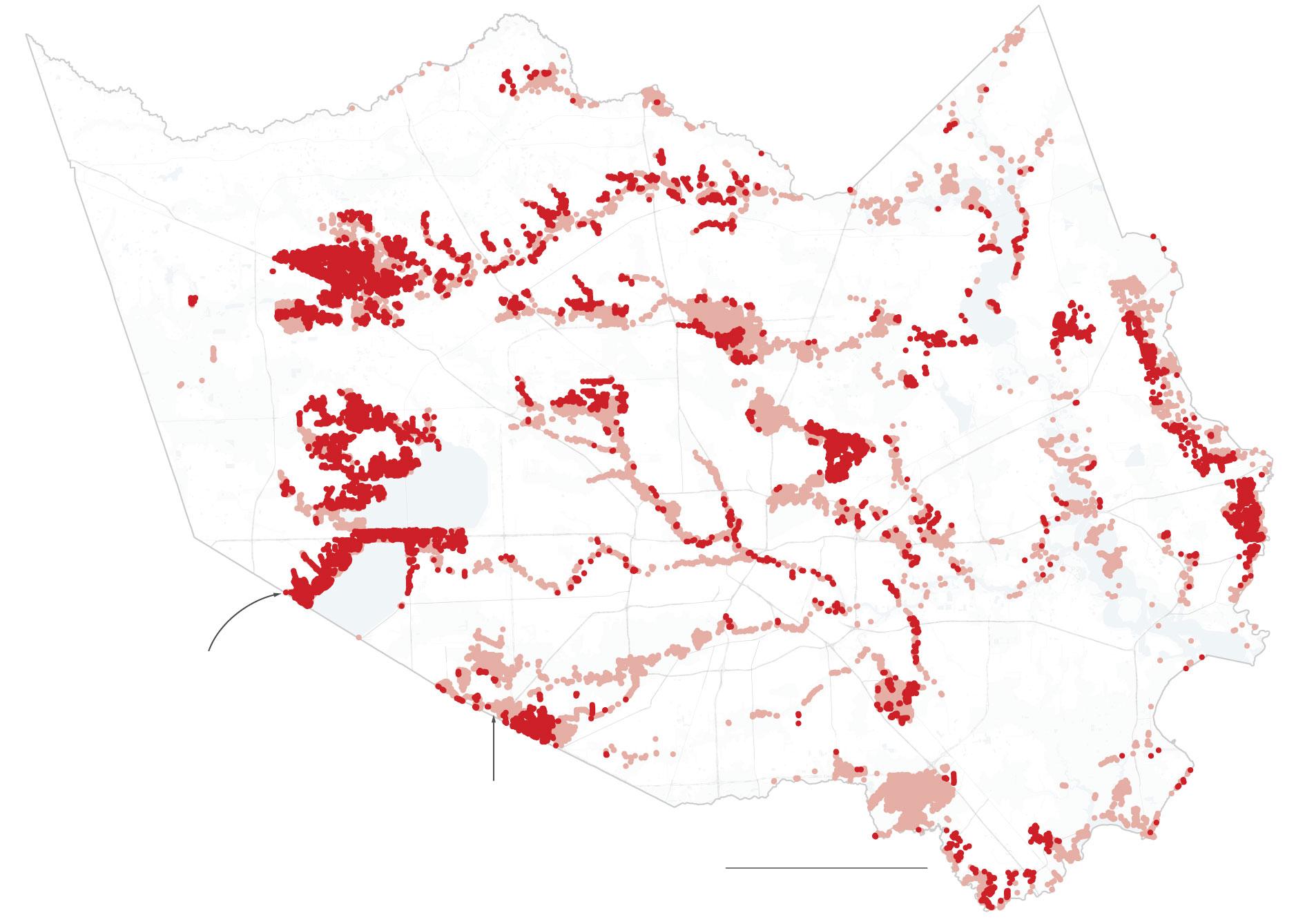Water Damage From Hurricane Harvey Extended Far Beyond Flood Zones - Fema Flood Maps Texas