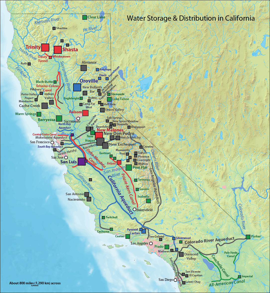 Water Issues In California | Kleinman Center For Energy Policy - California Reservoirs Map