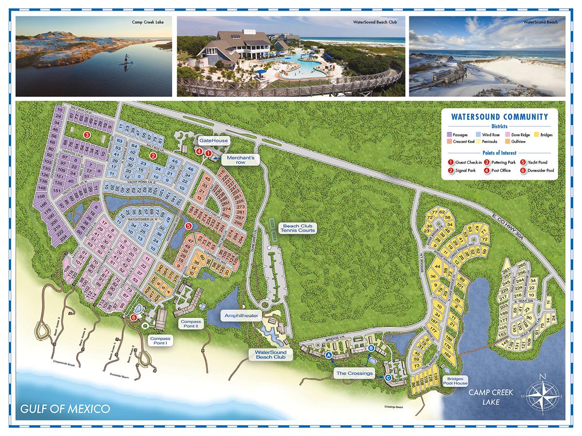 Watercolor Florida Map Pretty Design Ideas - World Map - Watersound Beach Florida Map