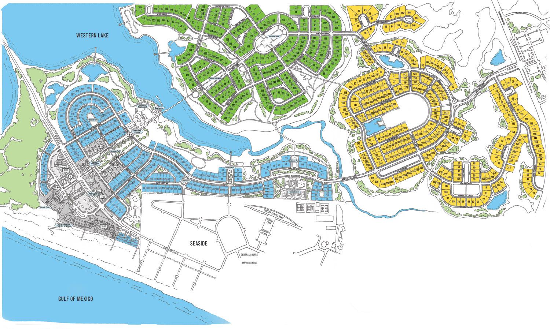 Watercolor Map Florida | Beach Group Properties - Seaside Florida Map