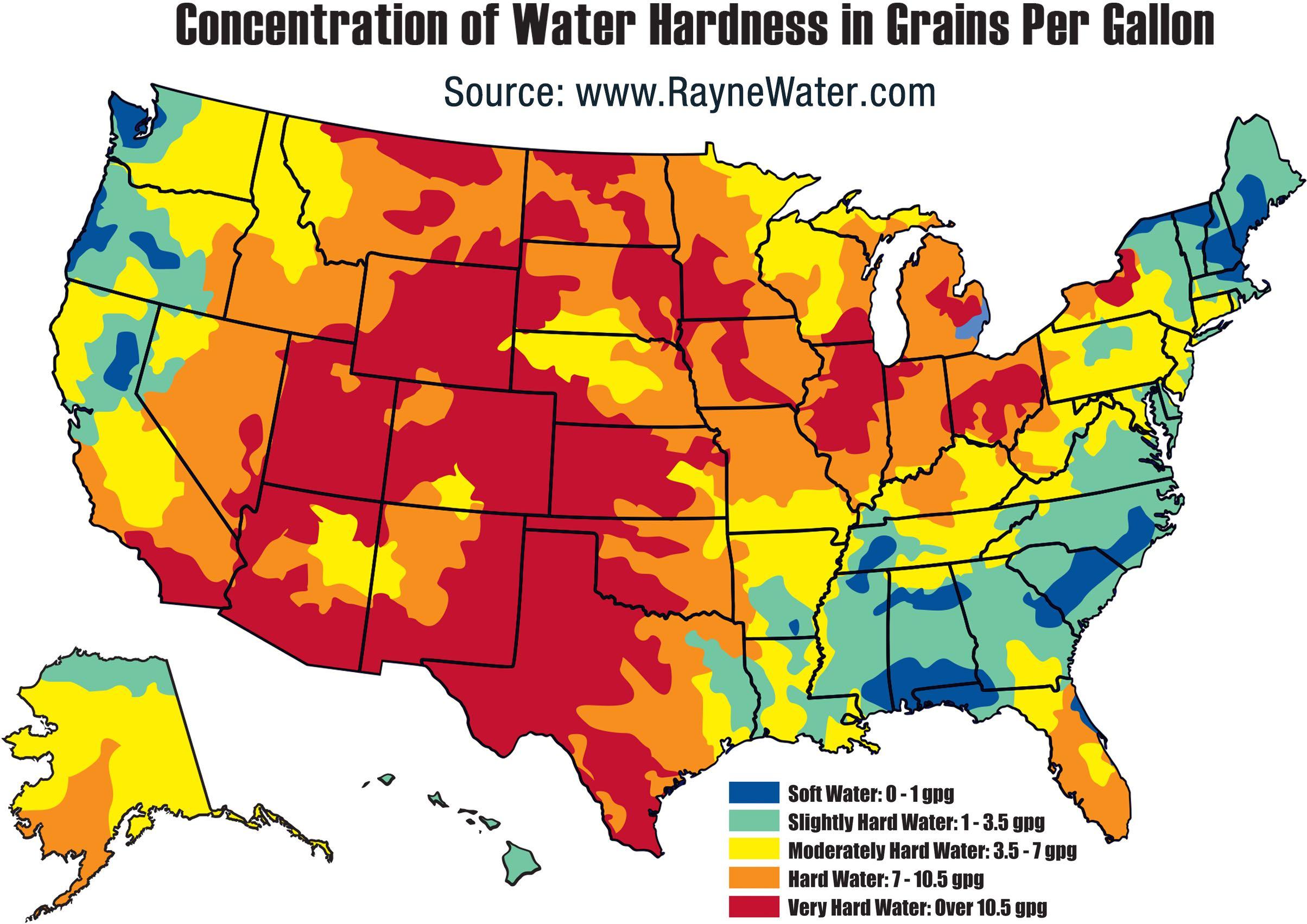 Waterhardness High Resolution Map Light Pollution Map California - Light Pollution Map California
