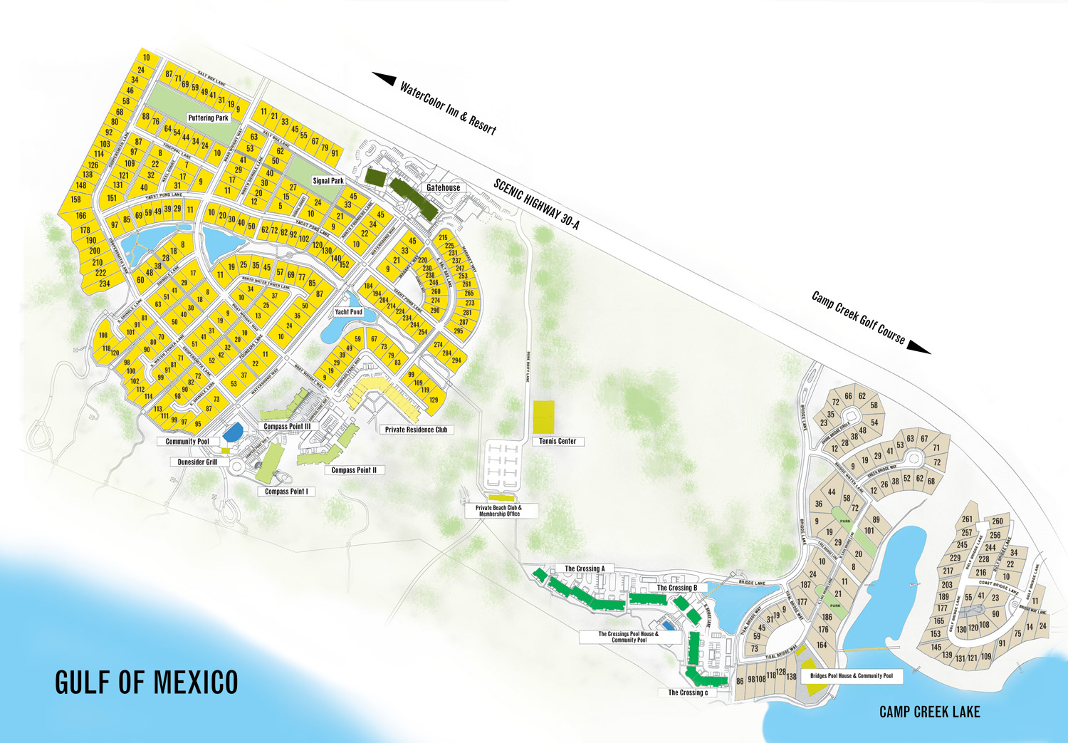 Watersound Florida Map | Beach Group Properties - Where Is Seagrove Beach Florida On A Map