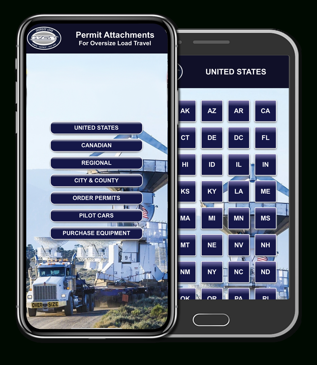Wcs's Permit Attachment App Available On Itunes & Google Play - California Oversize Curfew Map