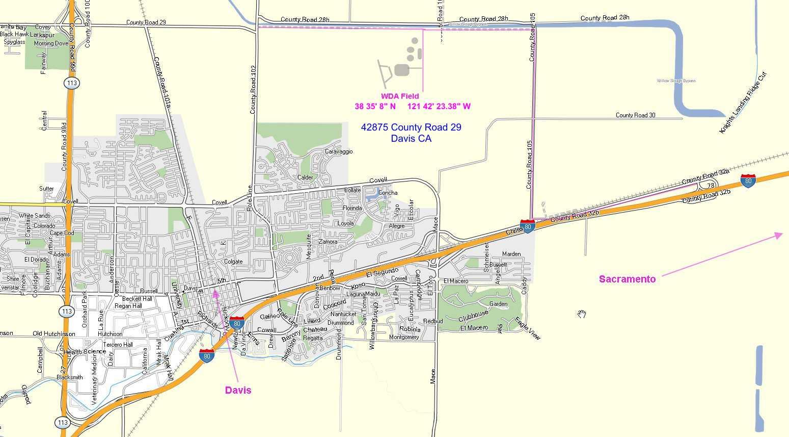 Wda Map - Davis California Map