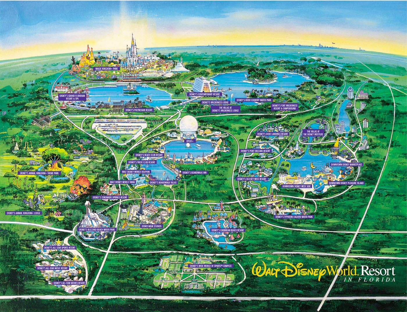 Wdw Wall Map And Walt Disney World Besttabletfor Me Within Resorts - Map Of Disney Florida Hotels