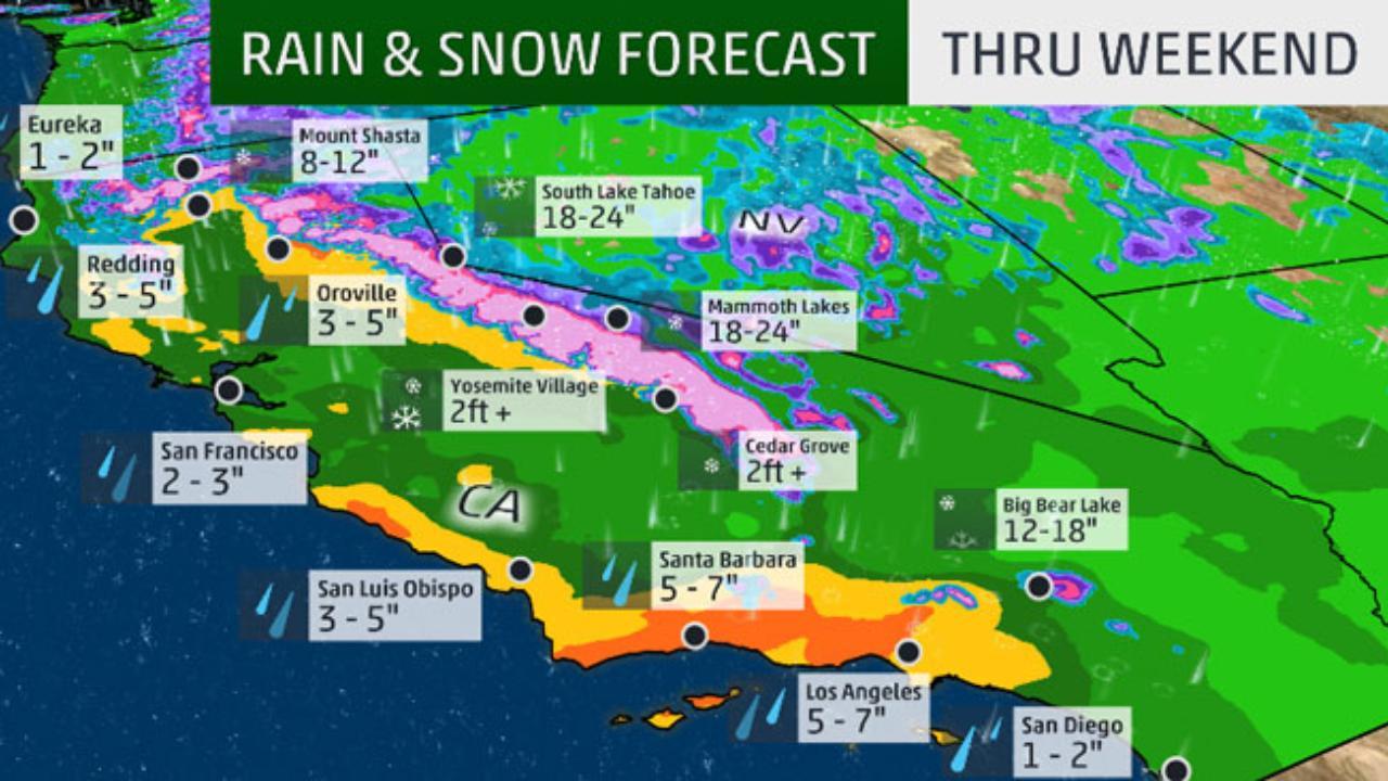 Weather Map Southern California - Klipy - California Weather Map