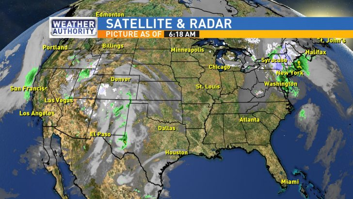 Texas Satellite Weather Map