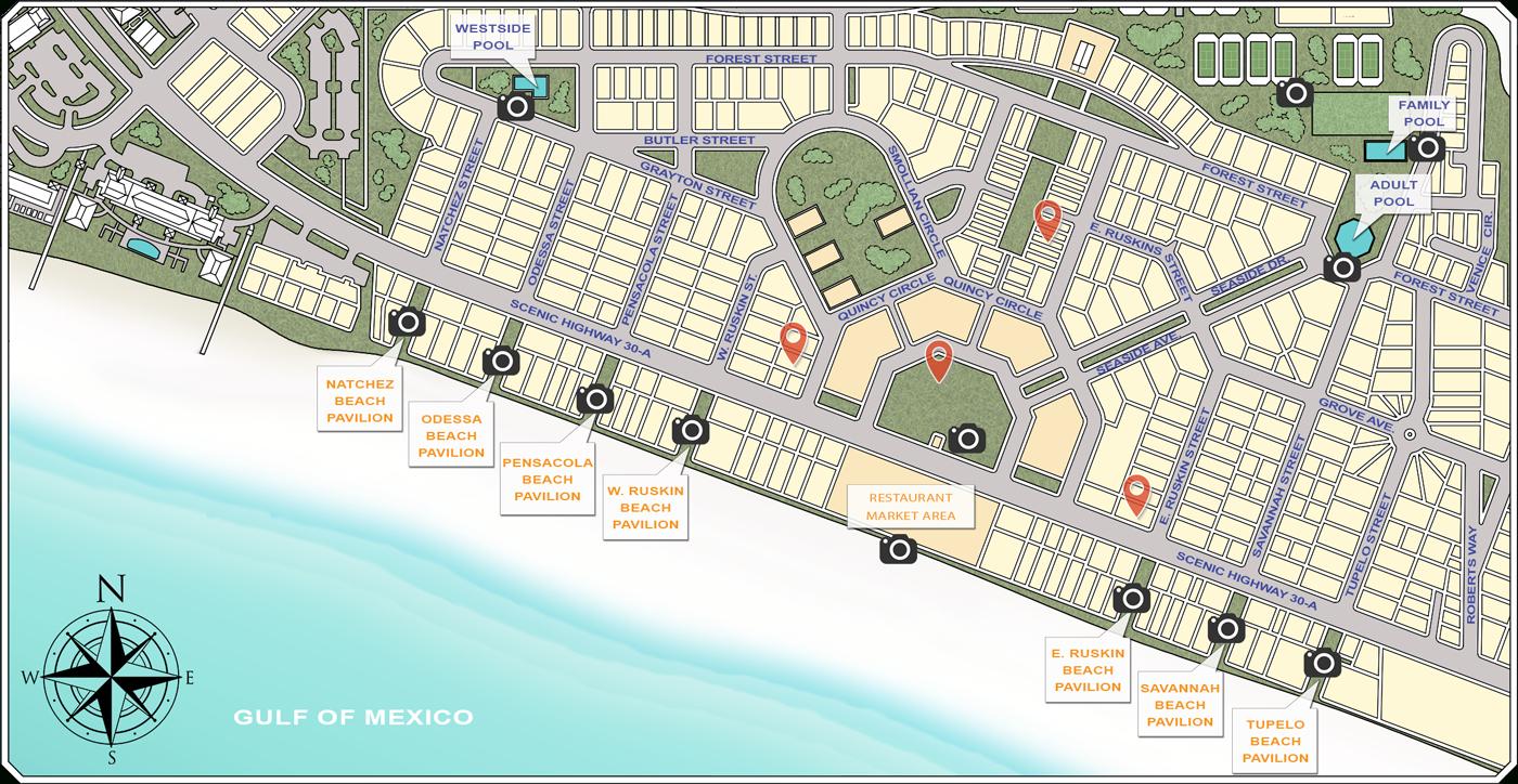 Website - Seaside Sample Map - Seagrove Florida Map