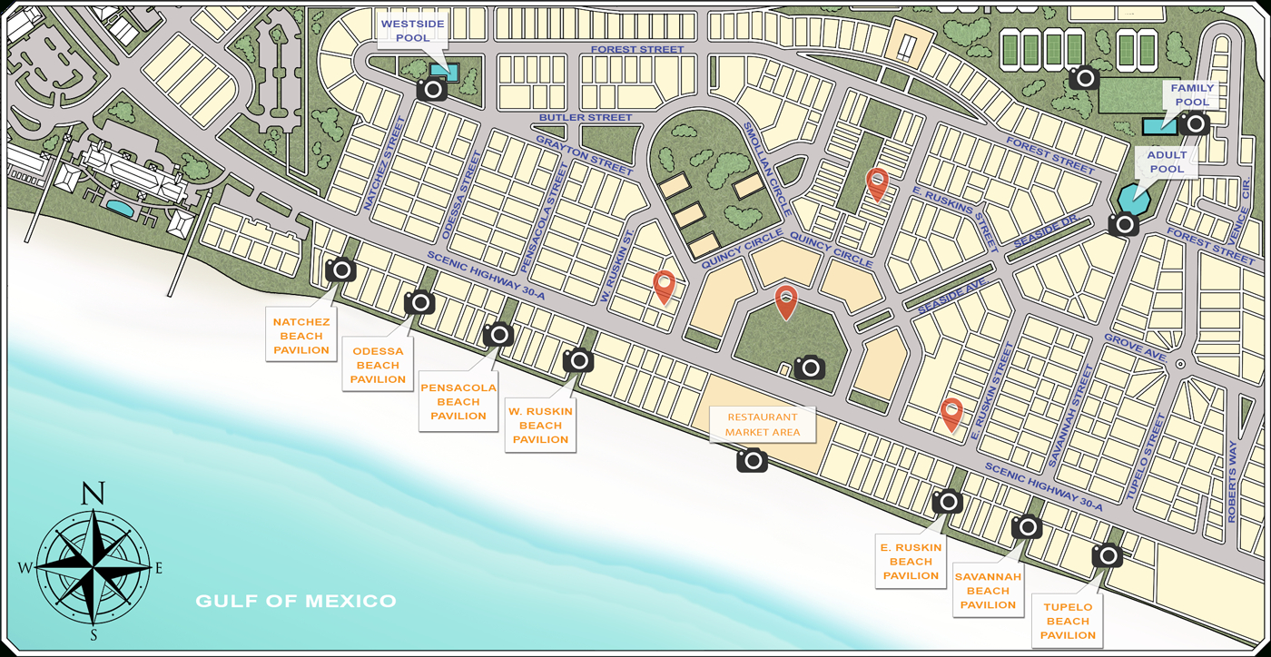 Website - Seaside Sample Map - Where Is Seaside Florida On The Map