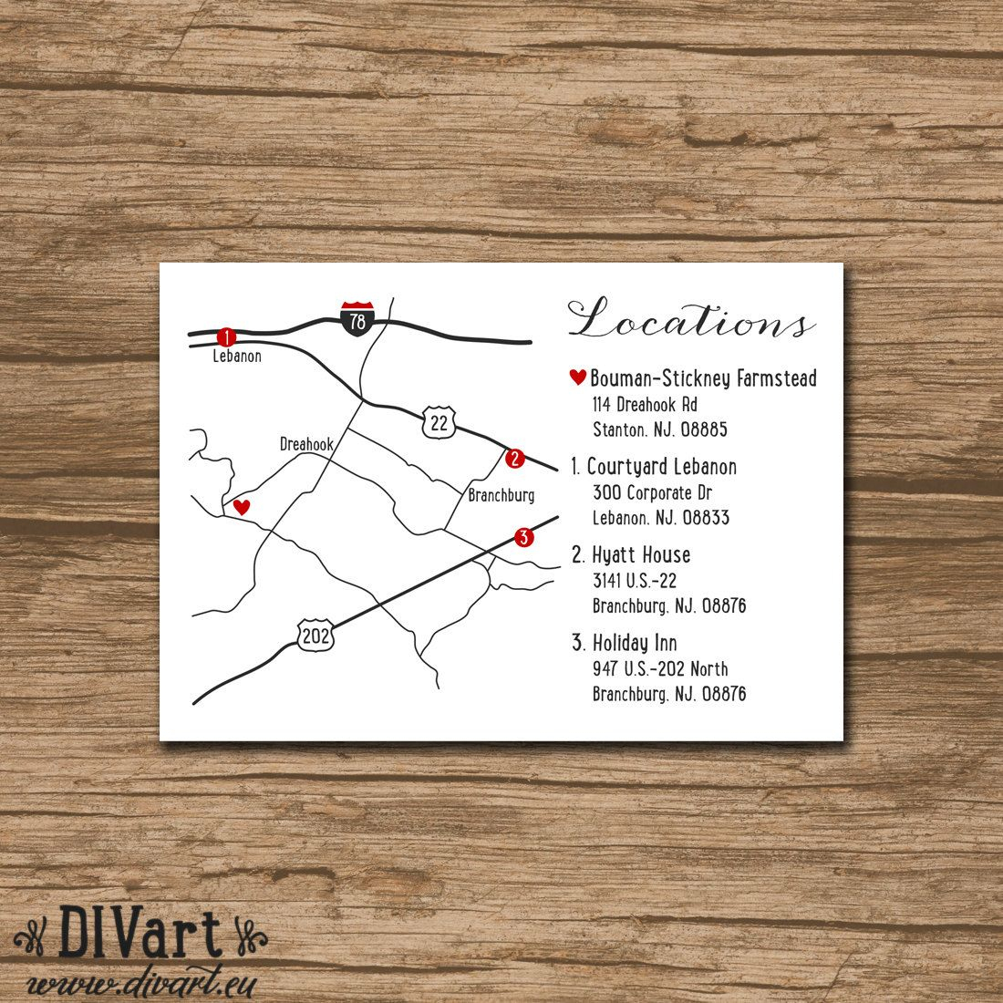 Wedding Invitation Map And Directions Card Chic, Classy, Fresh - Printable Map Directions For Invitations