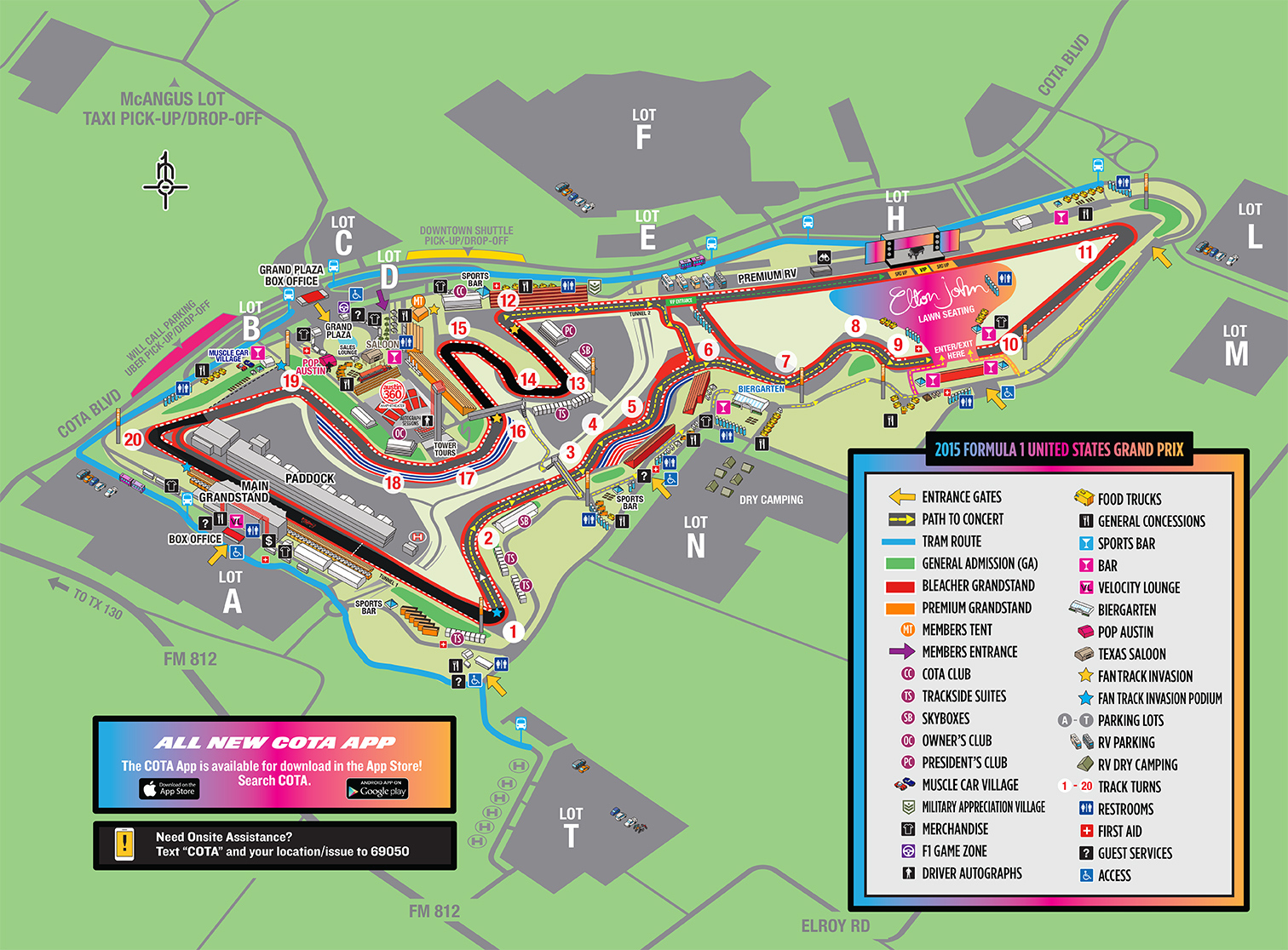 Welcome To Circuit Of The Americas For The 2015 Formula 1 United - Map Store Austin Texas