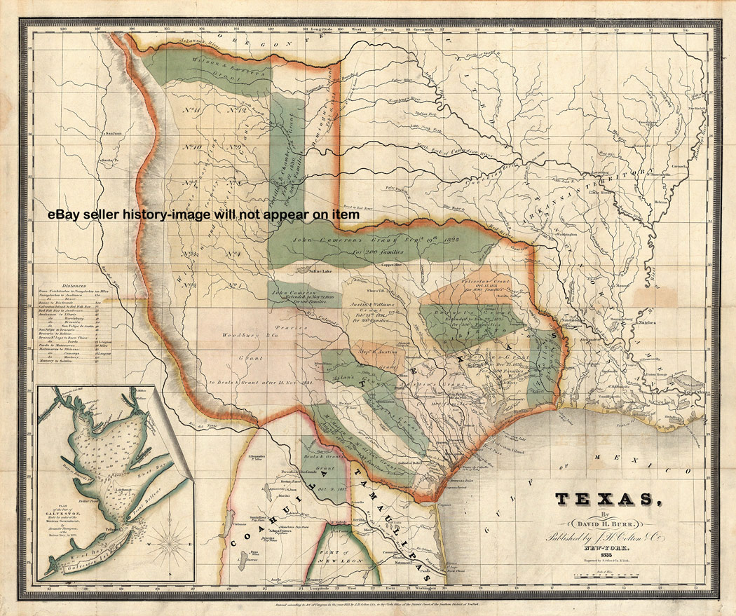 Welcome To Historynyc + Historical Maps, Poster, Books And Custom - Texas Map 1800