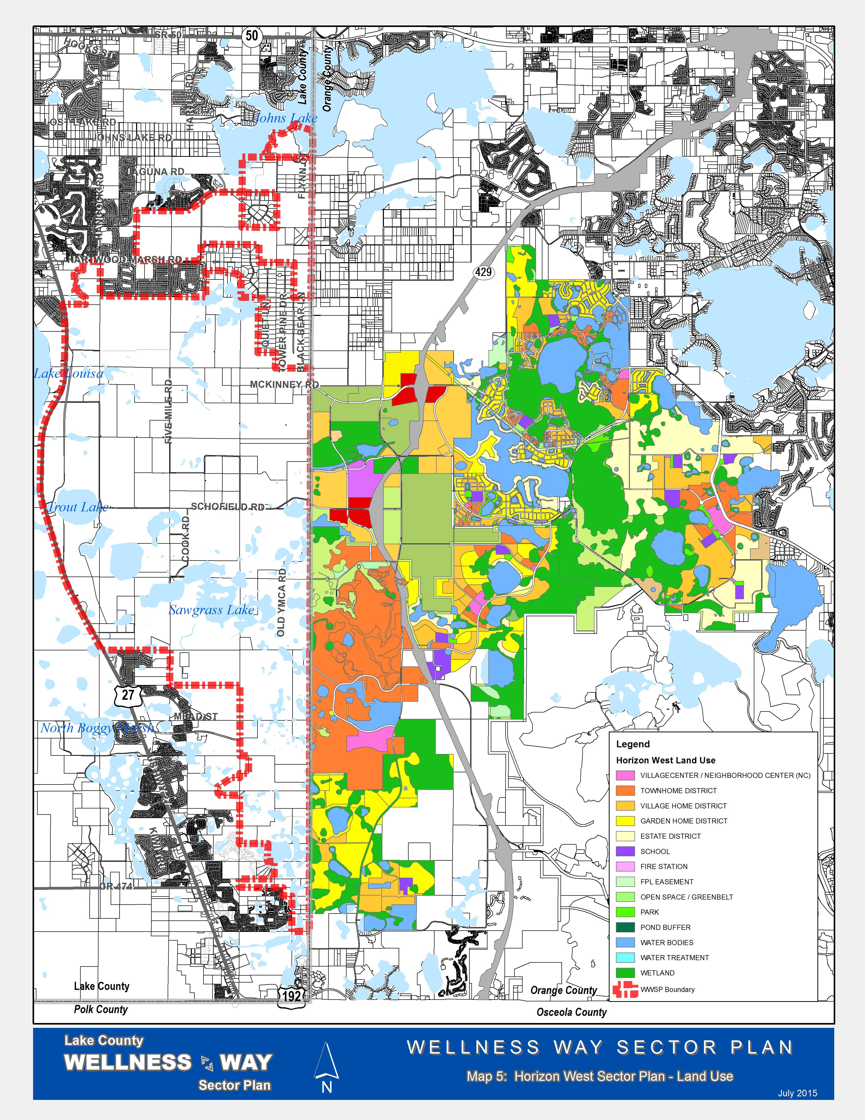 Wellness Way Area Plan - Map Of Lake County Florida