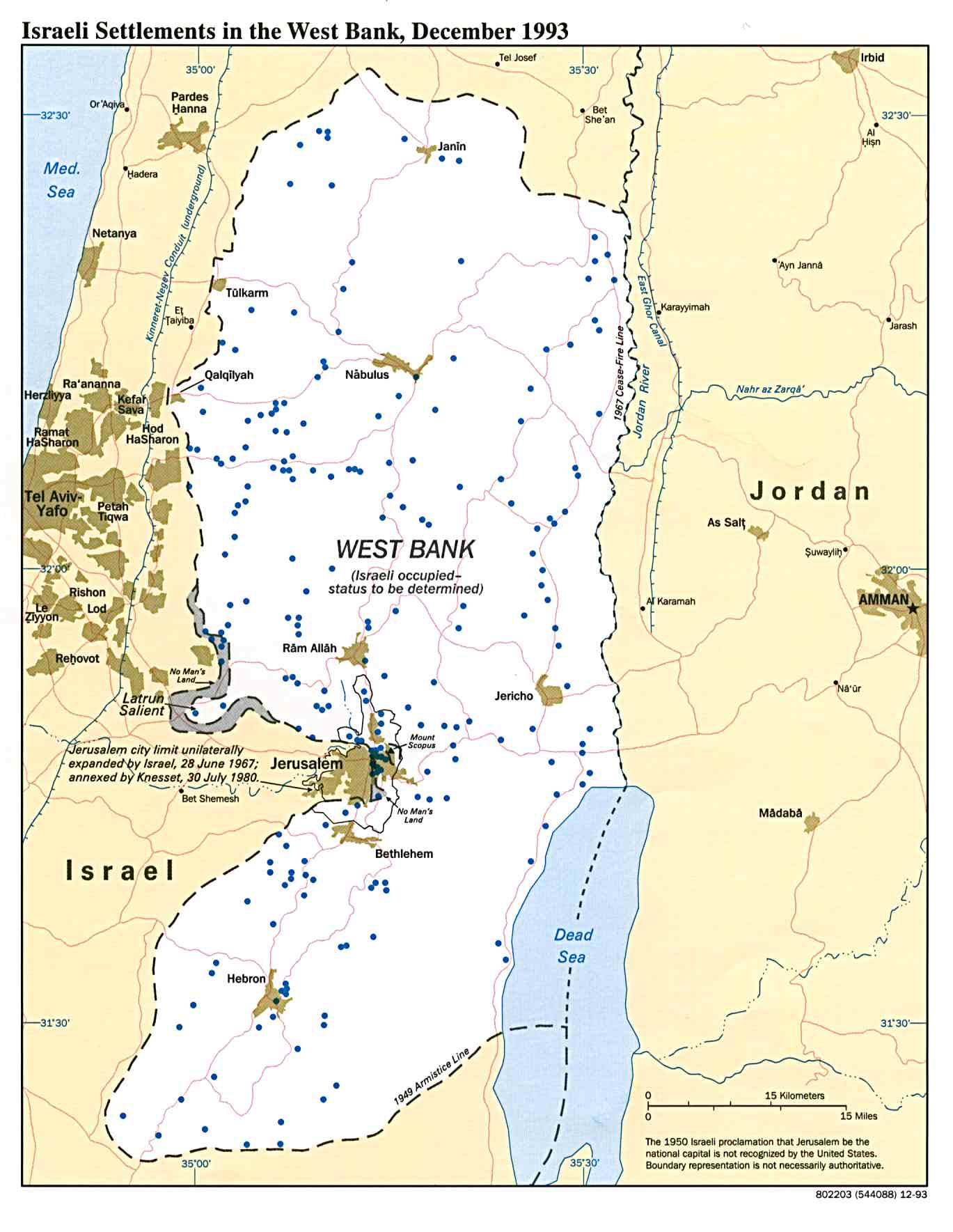 West Bank And Gaza Maps - Perry-Castañeda Map Collection - Ut - Palestine Texas Map