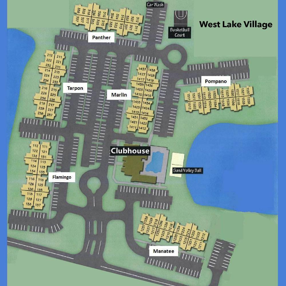 West Lake Village - Westlake Florida Map