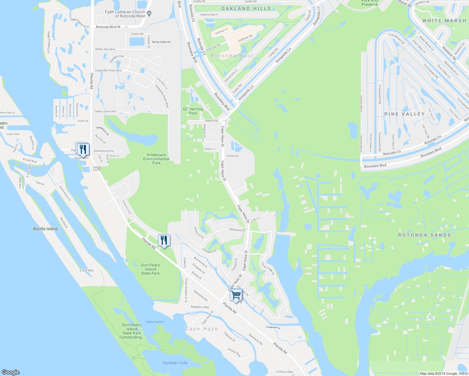 West Naples Rotonda Florida And Area Map - Rotonda Florida Map