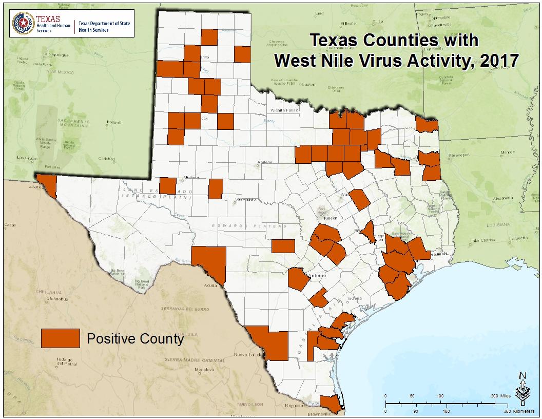 West Nile Is Found In Panola And Van Zandt Counties - Van Zandt County Texas Map