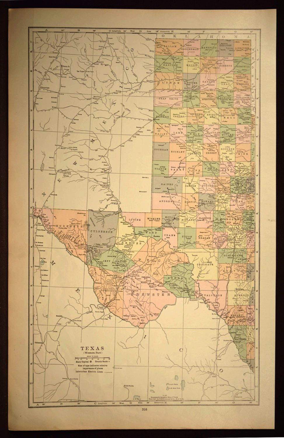 West Texas Map Of Texas Wall Art Decor Large Western Gift Idea Gift - Large Texas Wall Map