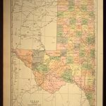 West Texas Map Of Texas Wall Art Decor Large Western Gift Idea Gift   Old Texas Map Wall Art