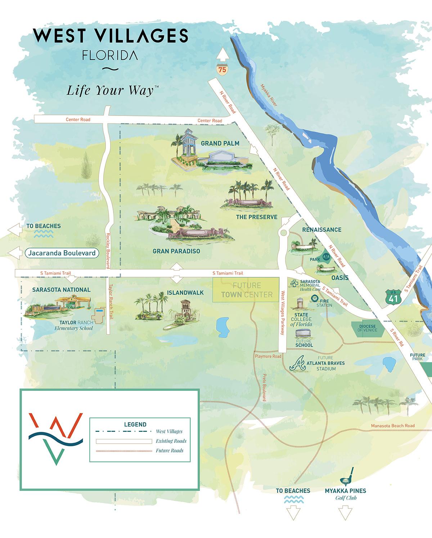 West Villages Florida Map - Map Of West Villages Florida - North Port Florida Map
