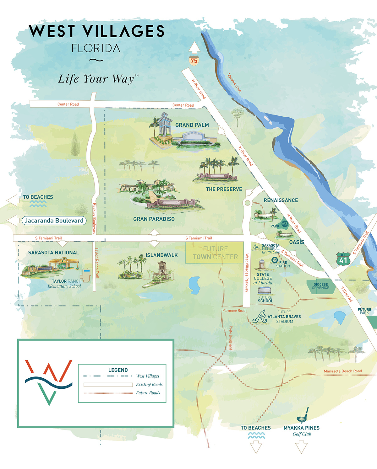 West Villages Florida Map - Map Of West Villages Florida - Where Is North Port Florida On A Map