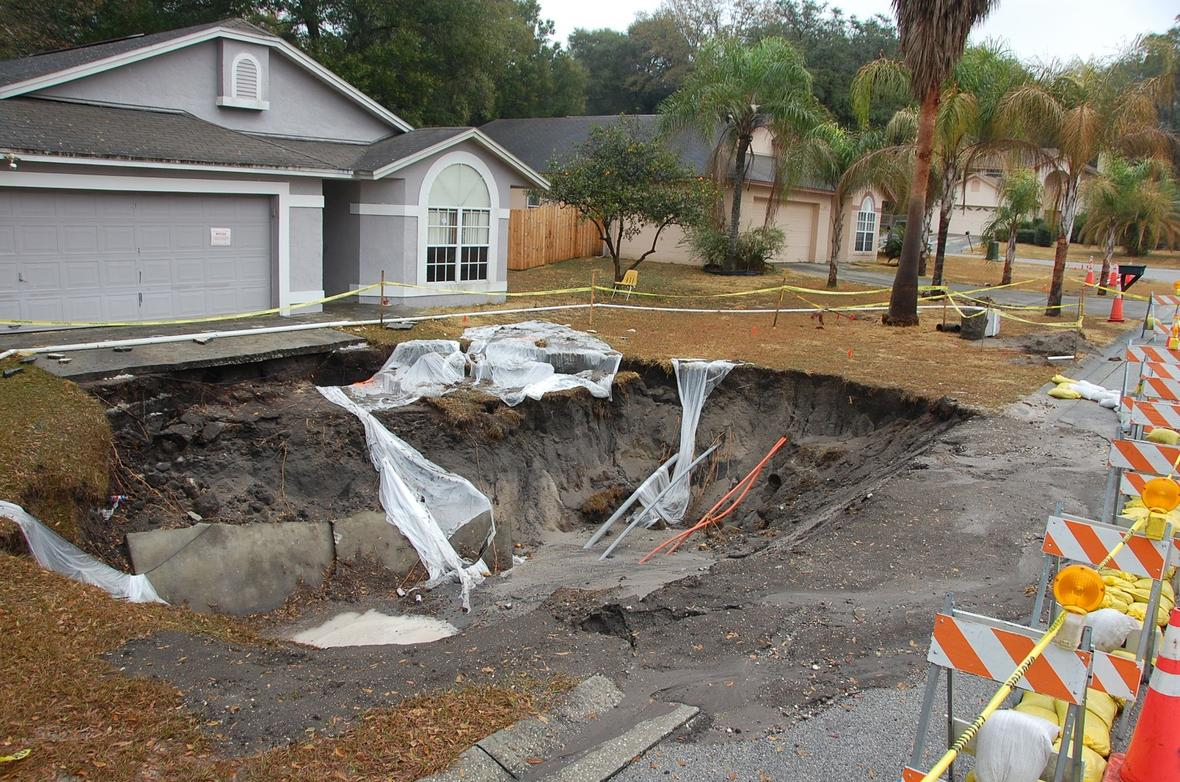 What Causes Sinkholes In Florida?   Interactive Sinkhole Maps - Interactive Sinkhole Map Florida