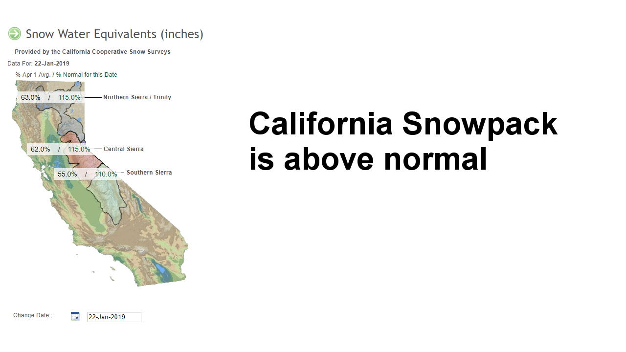 What Drought? California Snowpack Is Now Above Normal | Watts Up - California Snowpack Map