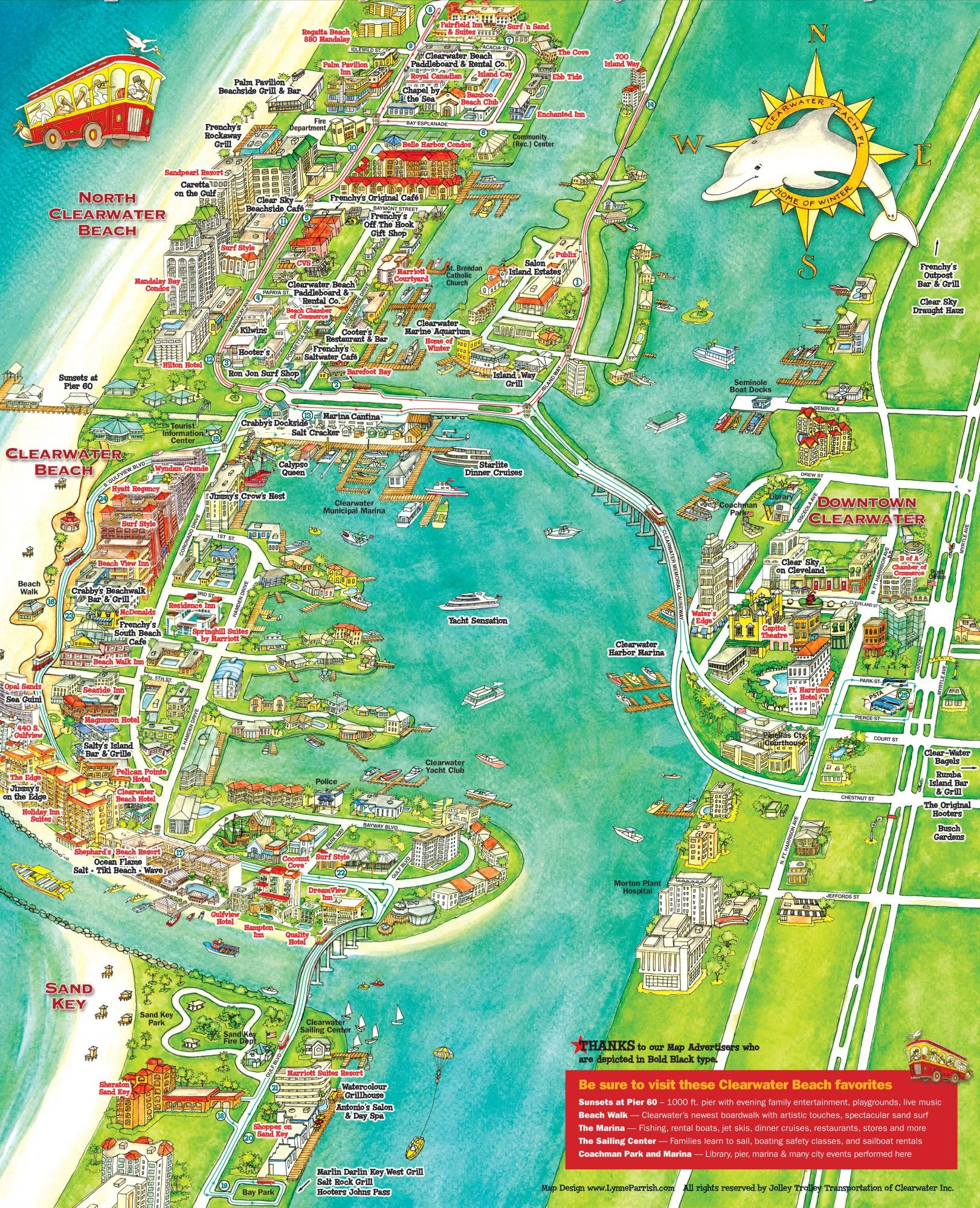 What To Do In Clearwater, Florida - Map Of Clearwater Florida And Surrounding Areas