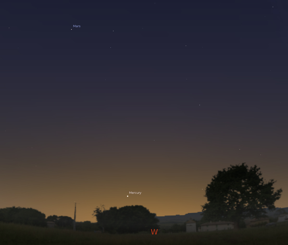 What's Up In Tonight's Sky – Beckstrom Observatory - Florida Night Sky Map
