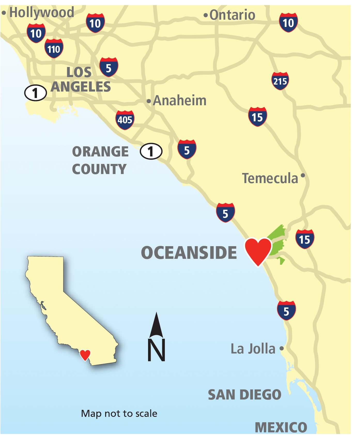Where Is La Jolla California On A Map Printable Maps Oceanside - La Jolla California Map