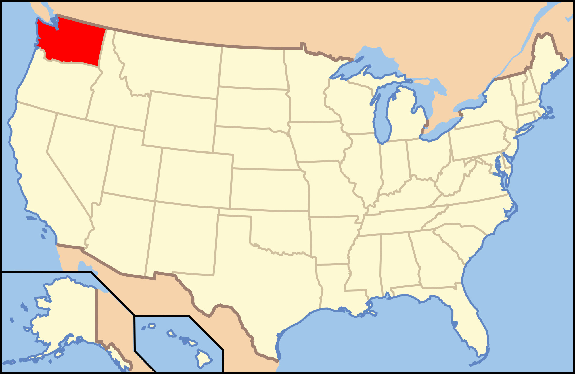 Where Is Lincoln California On The Map Outline Pierce County - Where Is Lincoln California On The Map
