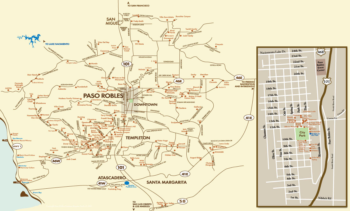 Where Is Paso Robles California On The Map - Klipy - Where Is Paso Robles California On The Map