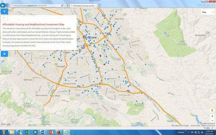 Printable Map Of San Jose