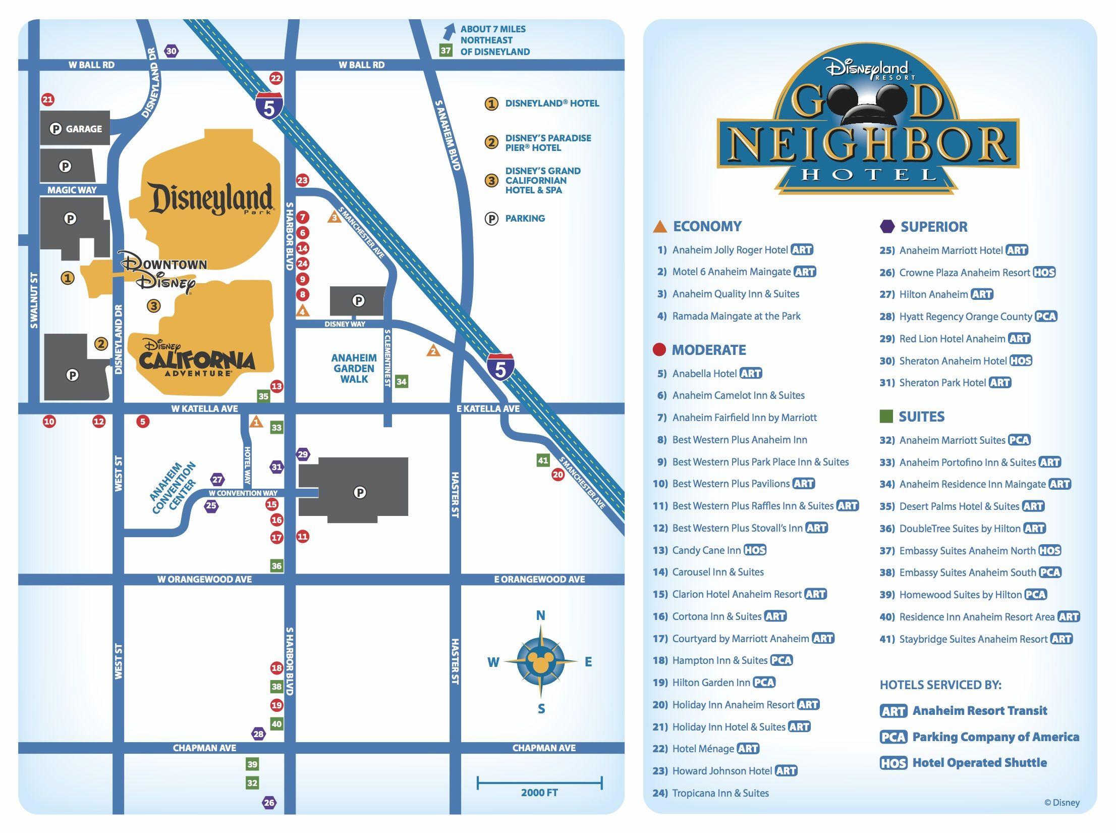 Where To Stay For The Dumbo Double Dare ~ Disneyland Good Neighbor - Map Of Hotels Around Disneyland California
