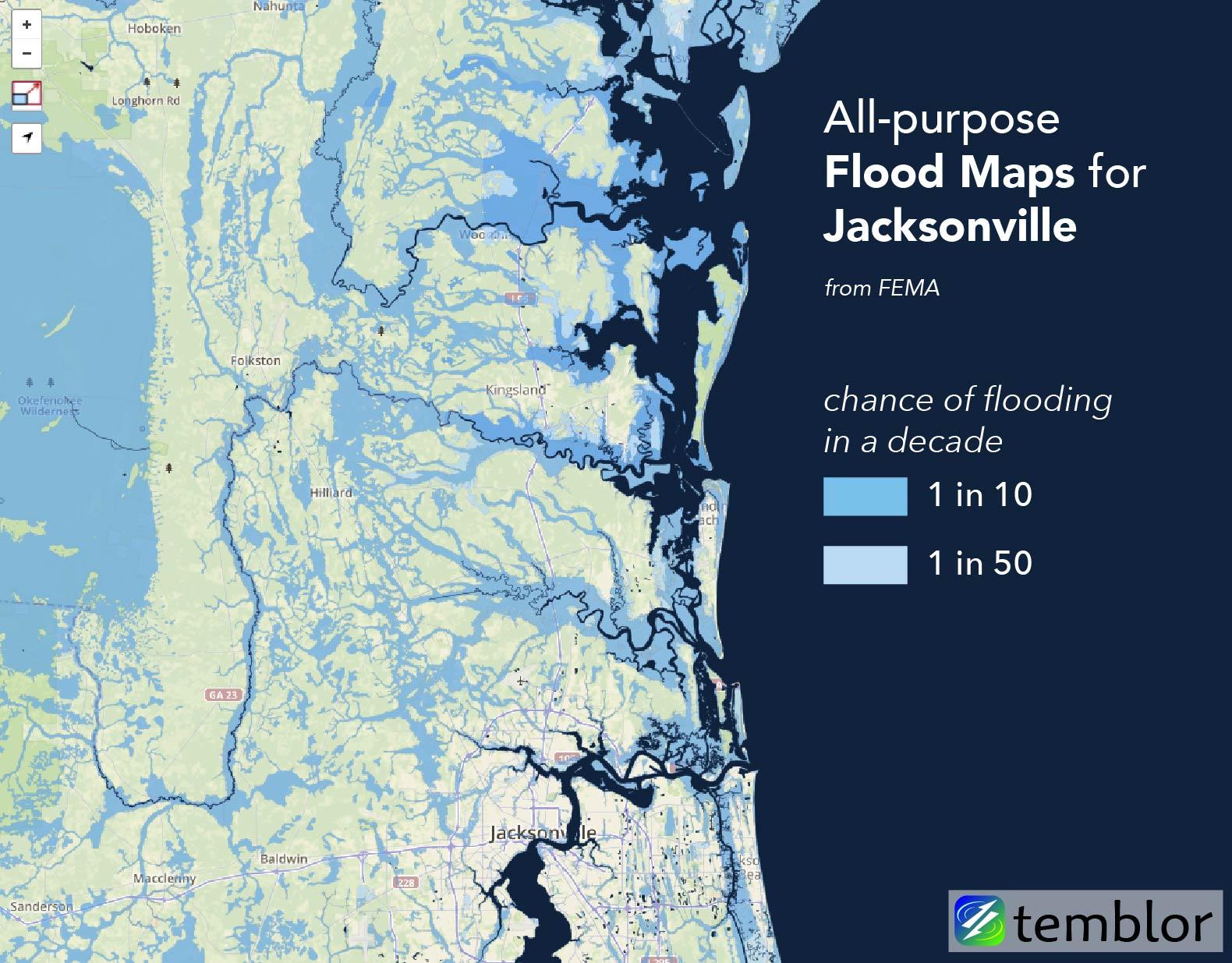 Where Will Hurricane Matthew Cause The Worst Flooding? | Temblor - Fema Flood Zone Map Florida