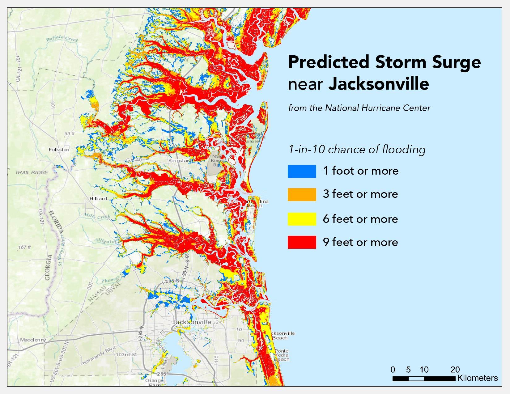Where Will Hurricane Matthew Cause The Worst Flooding? | Temblor - Florida Hurricane Damage Map