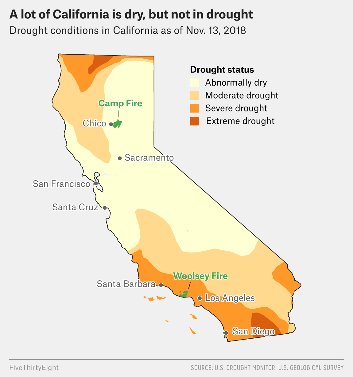 Why California's Wildfires Are So Destructive, In 5 Charts - Where Are The Fires In California Right Now Map