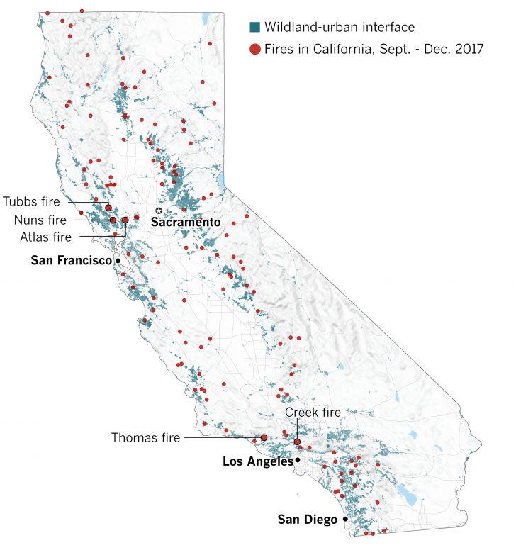 Active Fire Map California