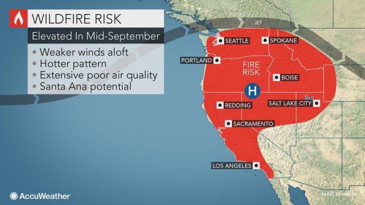 California Wildfire Risk Map
