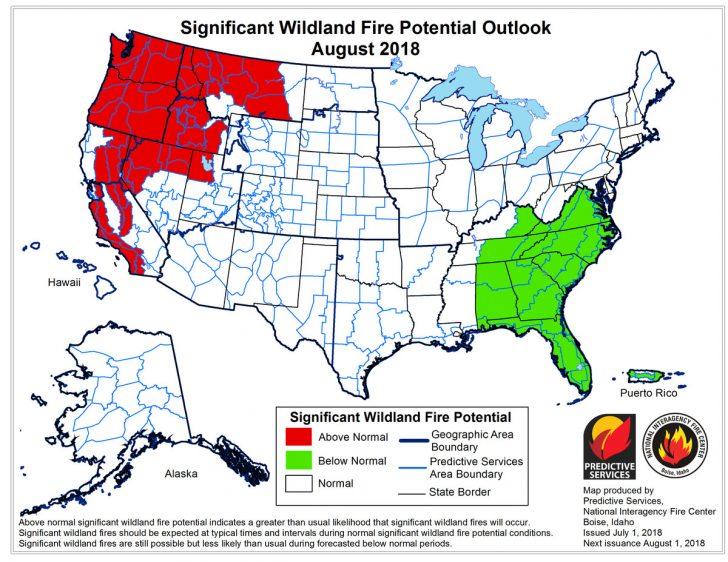 California Fire Heat Map