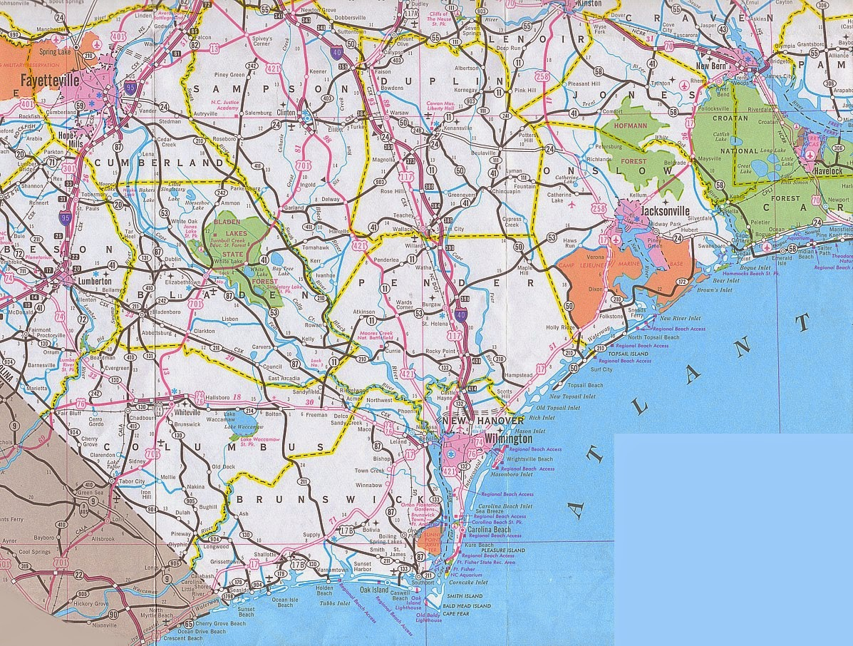 Wilmington Nc City Map - Free Printable Maps - Printable Map Of Wilmington Nc