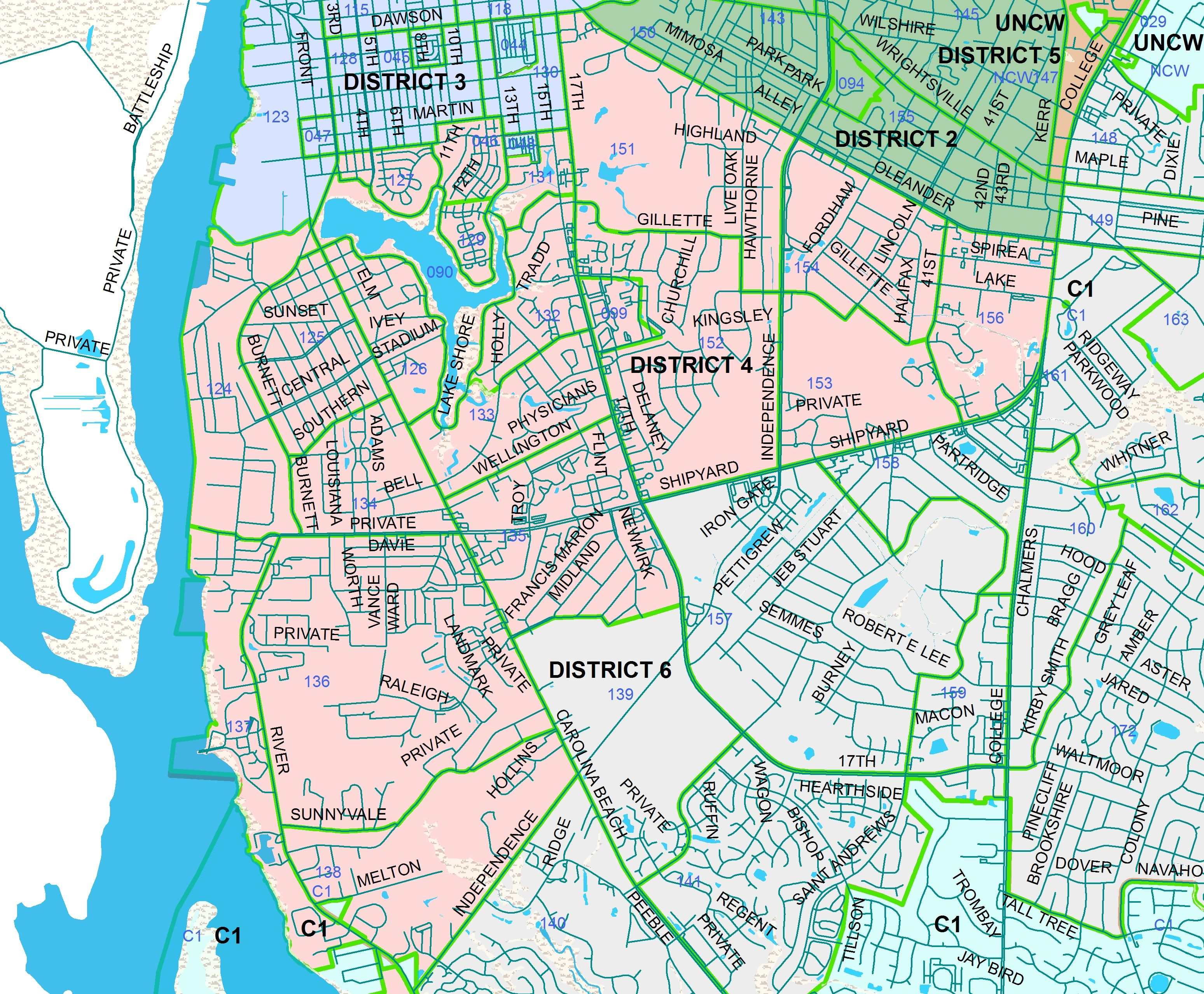 Wilmington Nc Neighborhoods Map - Google Search | N C | Wilmington - Printable Map Of Wilmington Nc