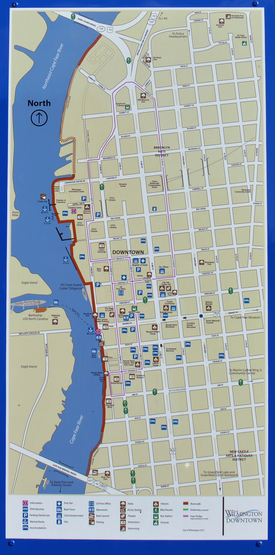 Wilmington Riverwalk - Wilmington-Nc - Printable Map Of Wilmington Nc
