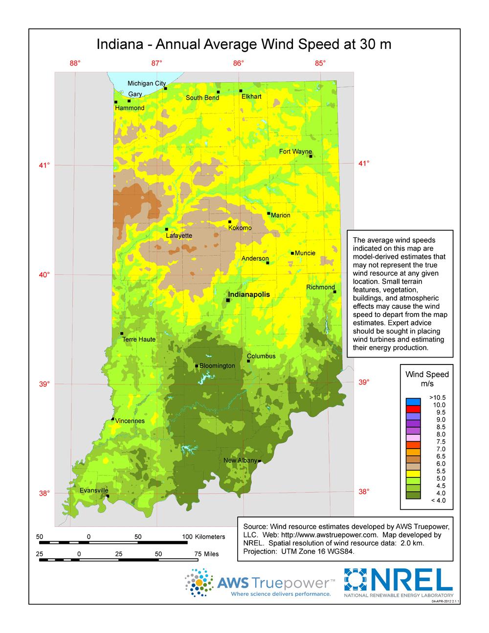 Windexchange: Wind Energy In Indiana - Texas Wind Direction Map