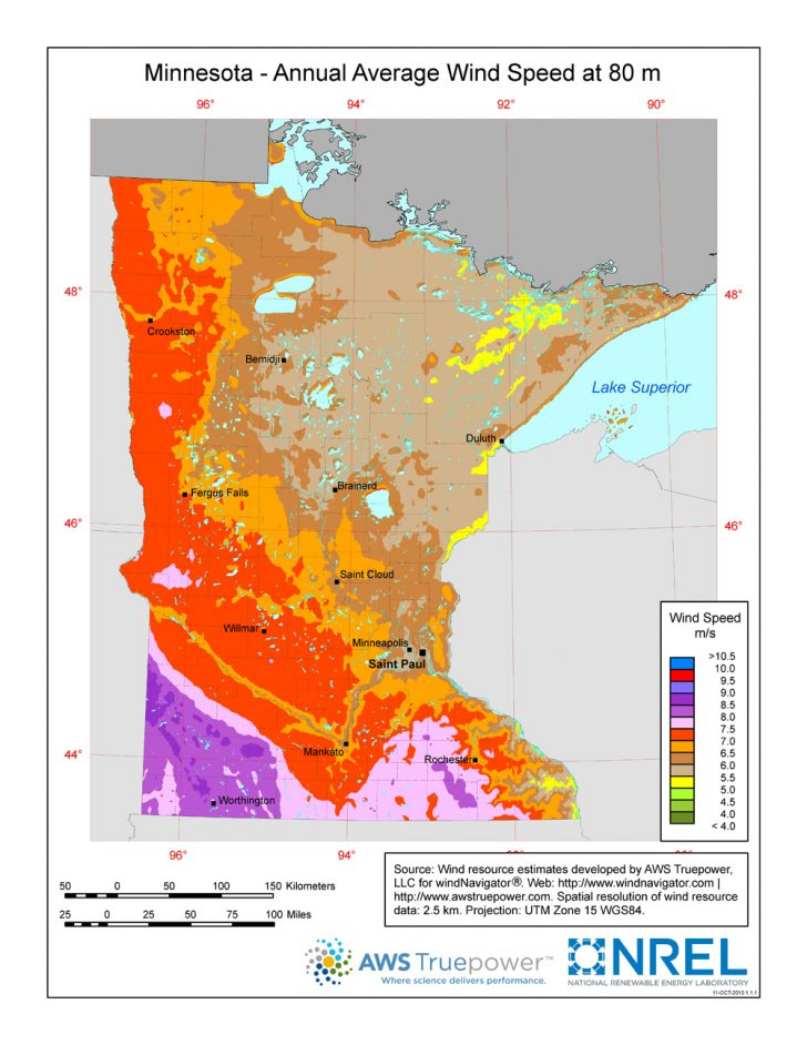 Wind Farms Texas Map