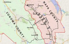 Wine Country Map: Sonoma And Napa Valley – Printable Napa Winery Map