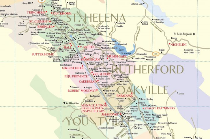 Napa Valley California Map