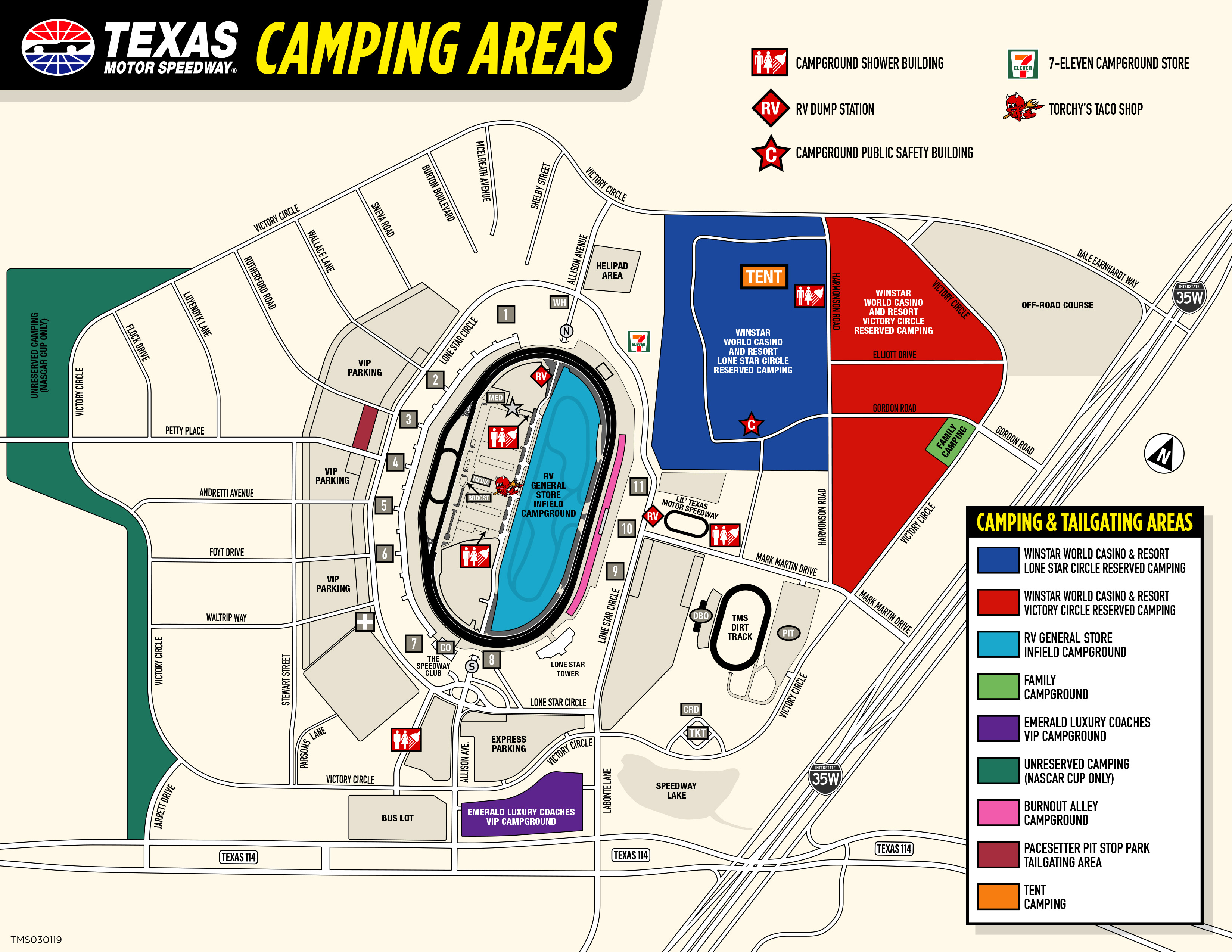 Winstar World Casino And Resort Reserved Camping - Casinos In Texas Map